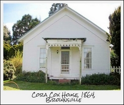 Cora Cox House, 1864, Brownsville